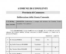 Adesione della Città di Conflenti (CZ) al Comitato No Lombroso