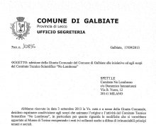 Il Comune di Galbiate ha aderito al Comitato No Lombroso