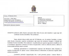 Adesione della Giunta comunale della Città di Lecco alle iniziative e agli scopi del Comitato Tecnico Scientifico