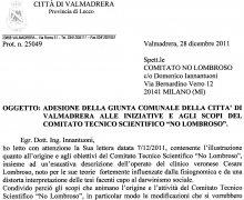 Adesione della Giunta comunale della Città di Valmadrera alle iniziative e agli scopi del Comitato Tecnico Scientifico