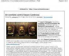 Un Comitato Contro Cesare Lombroso