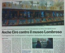 Anche Cirò contro il museo Lombroso