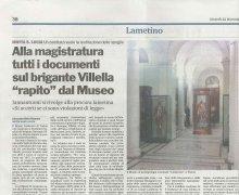 Alla magistratura di Lamezia i documenti del brigante Villella