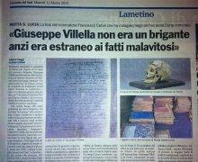 Giuseppe Vilellla non era un brigante anzi era estraneo ai fatti malavitosi