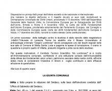 Adesione del Comune di Bari al Comitato No Lombroso
