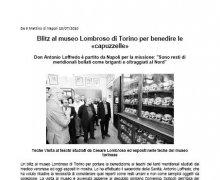 Blitz al museo Lombroso di Torino per benedire le