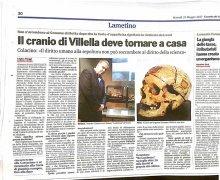 Il cranio di Villella deve tornare a casa
