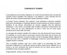 Comunicato Stampa del Comune di San Marco Argentano