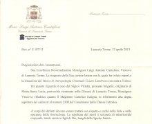 Comunicazione di Mons. Luigi Antonio Cantafora, Vescovo di Lamezia Terme