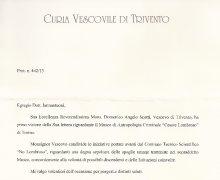 Consenso del Vescovo di Trivento S.E.R. Mons. Domenico Angelo Scotti