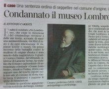 Condannato il museo Lombroso: restituisca i resti del