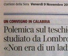 Polemica sul teschio studiato da Lombroso: