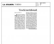 Teschi Meridionali - La Stampa - Torino
