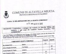Adesione delal Città di Altavilla Milicia al Comitato No Lombroso