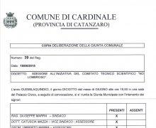 La Città di Cardinale è Testimonial del Comitato No Lombroso