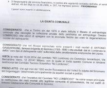 La Città di Roccasecca dei Volsci (LT) ha aderito al Comitato No Lombroso