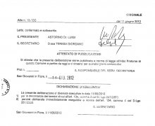 Adesione del Consiglio Comunale della Città di San Giovanni in Fiore (CS) alle iniziative e agli scopi del Comitato Tecnico Scientifico