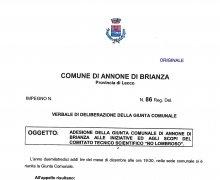 La Città di Annone di Brianza ha aderito al Comitato No Lombroso