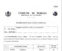 La Città di Borgia (CZ) ha aderito al Comitato No Lombroso