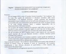 Adesione della Giunta comunale di Bosisio Parini alle iniziative e agli scopi del Comitato Tecnico Scientifico