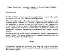 Adesione della Città di Cetraro (CS) al Comitato No Lombroso