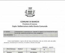Adesioen del Comune di Bianchi al Comitato No Lombroso