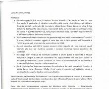 Adesione del Comune di Bianchi al Comitato No Lombroso