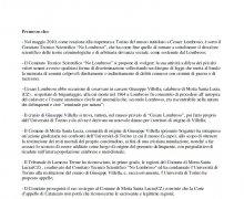 La Città di Cropalati (CS) ha aderito al Comitato No Lombroso