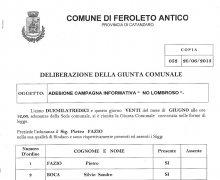 Adesione della Città di Feroleto Antico (CZ) al Comitato No Lombroso