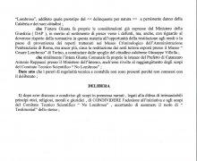 Adesione della Città di Gerocarne (VV) al Comitato No Lombroso