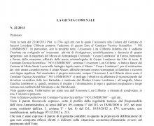 Adesione della Città di Jacurso (CZ) al Comitato No Lombroso