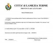 Adesione della Città di Lamezia Terme (CZ) al Comitato No Lombroso