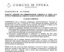 La Città di Opera (MI) ha aderito al Comitato No Lombroso