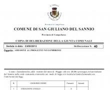Adesione della Città di San Giuliano del Sannio (CB) al Comitato No Lombroso