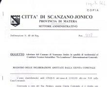 Scanzano Ionico (MT) ha aderito al Comitato No Lombroso