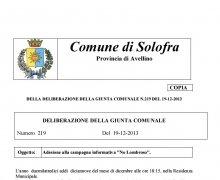 La Città di Solofra (AV) ha aderito al Comitato No Lombroso