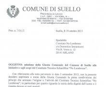 La Città di Suello (LC) ha aderito al Comitato No Lombroso