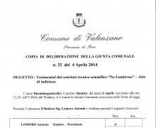La Città di Valenzano (BA) ha aderito al Comitato No Lombroso