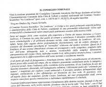 La Città di Velletri è Testimonial del Comitato No Lombroso