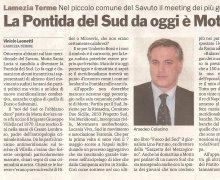 La città di Giuseppe Villella, Motta S. Lucia, diventa la Pontida del Sud