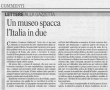 Un museo spacca l'Italia in due