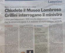 Chiudete il Museo Lombroso Grillini interrogano il ministro