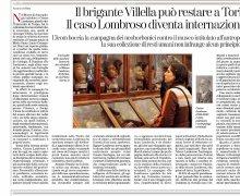 Il brigante Villella può restare a Torino, Il caso Lombroso diventa internazionale