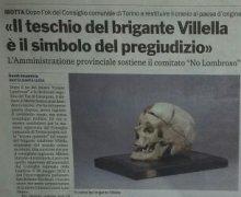 Il teschio del brigante Villella è il simbolo del pregiudizio
