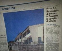 Il Consiglio di Torino: in Calabria le spoglie di Villella