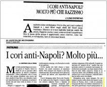 I cori anti-Napoli? Molto più che razzismo
