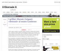 I grillini: liberate i briganti «detenuti» al museo Lombroso