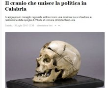Il cranio che unisce la politica in Calabria