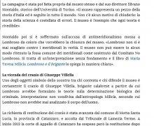 Il museo Lombroso divide il web: due petizioni opposte su change.org