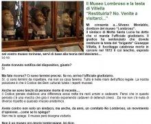 Il Museo Lombroso e la testa di Villella